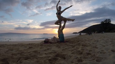 Makena Beach Acro