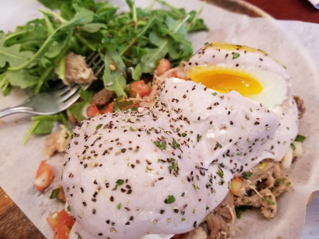 Ars Cafe Poi Kalua Pork Eggs Benedict