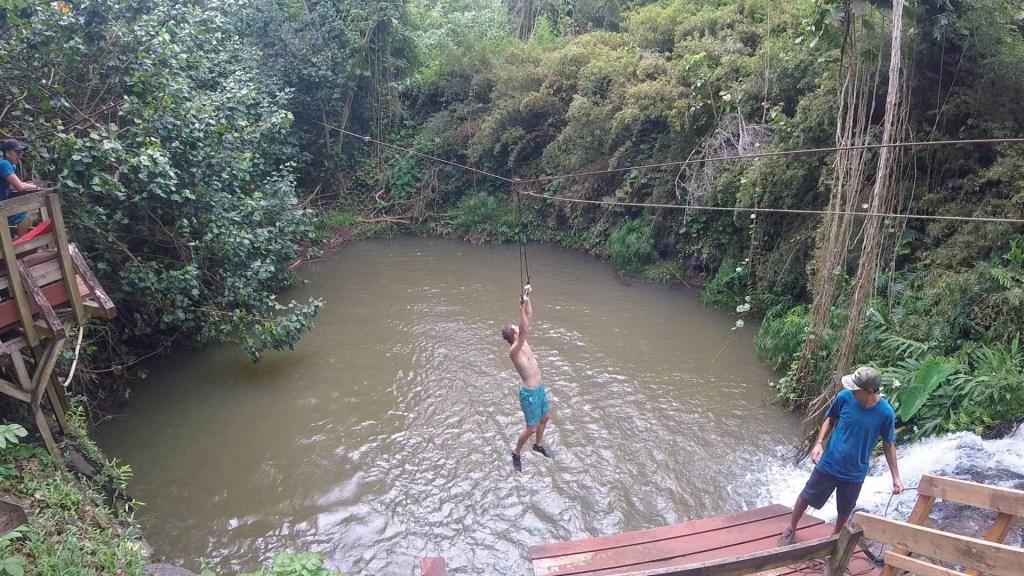 Zipline Waterfall, Kauai