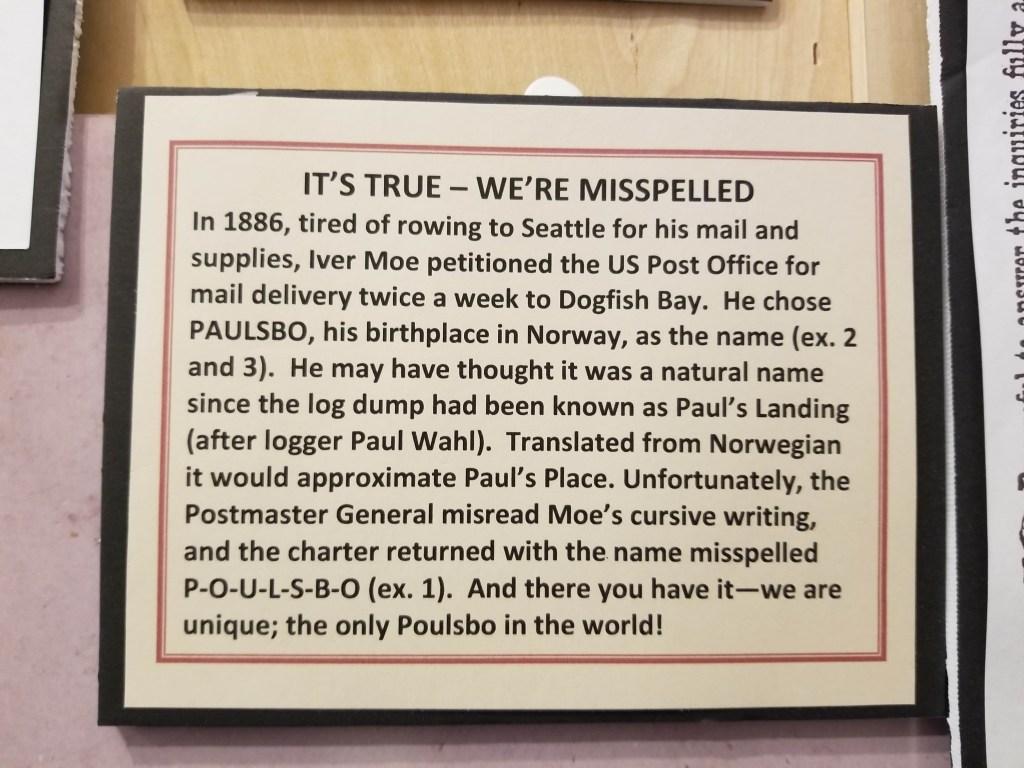 Paulsbo Spelling History