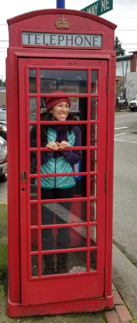 Red Telephone Booth - Poulsbo, Washington