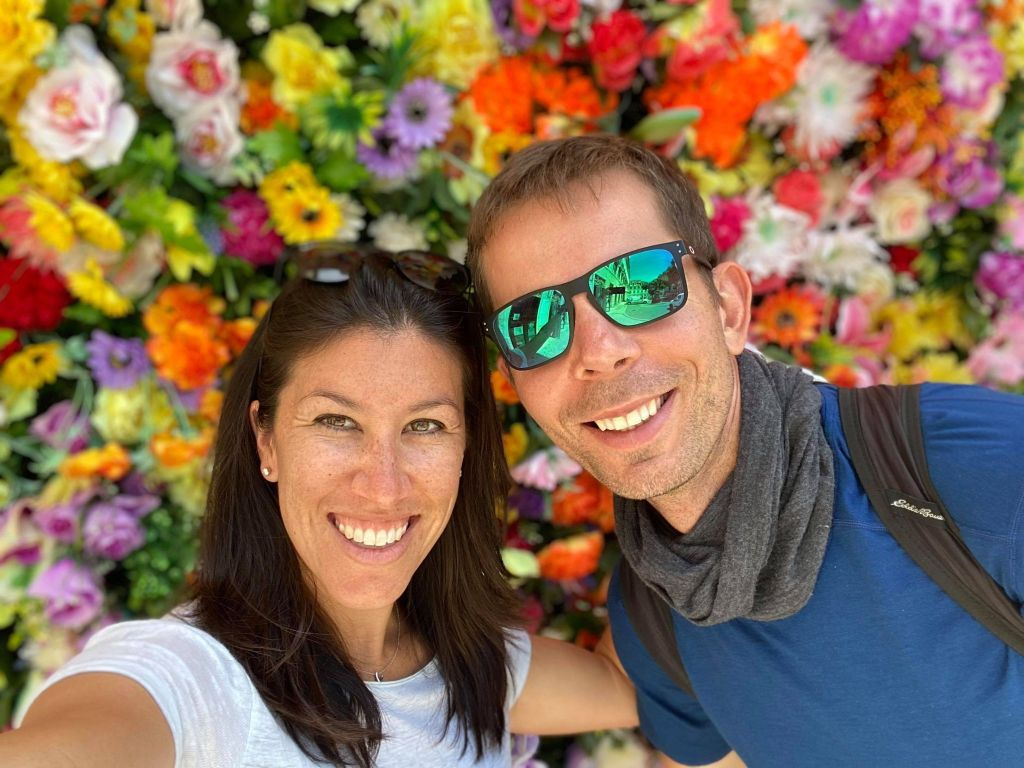 Colorful Flower Wall Lisbon, Portugal