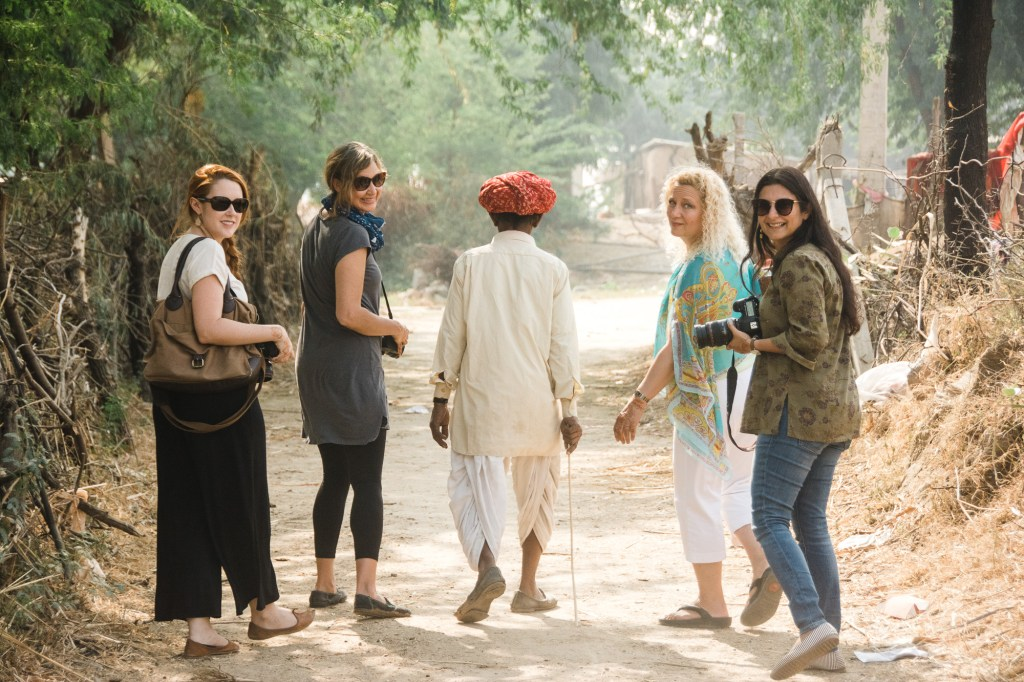 CulturallyOurs creative travel retreat to India village walk in Rajasthan