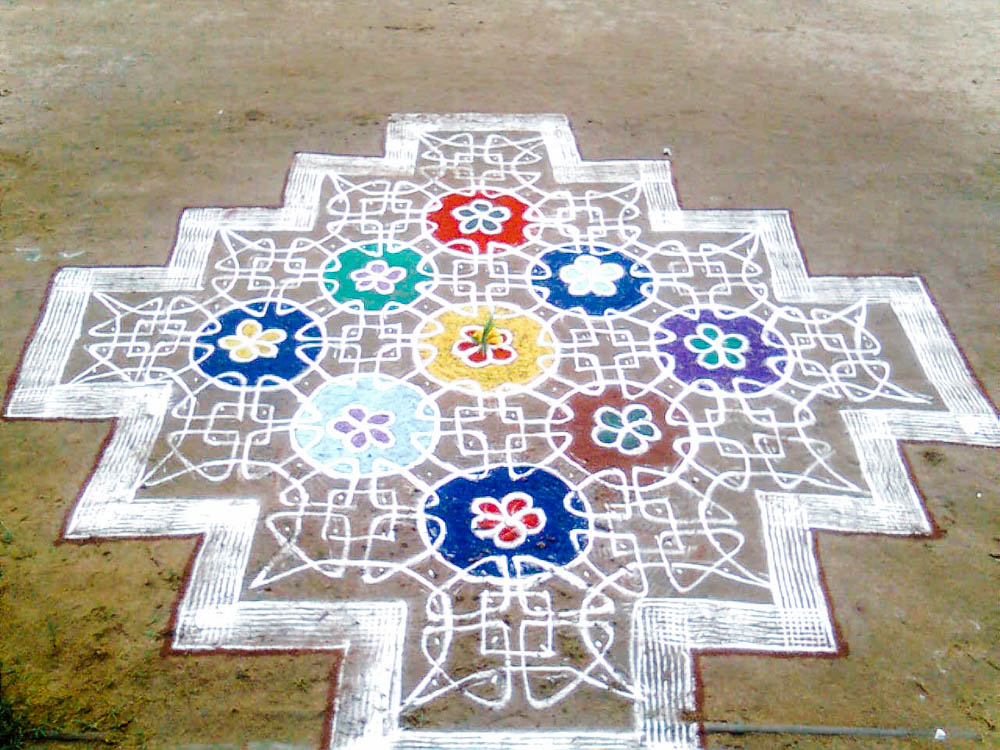 CulturallyOurs Indian Carnatic Music And Festival Of Marghazi Rangoli Outside