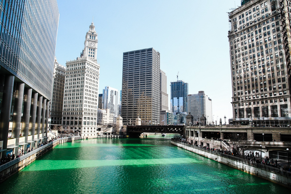 CulturallyOurs St Patrick Day Green Chicago River