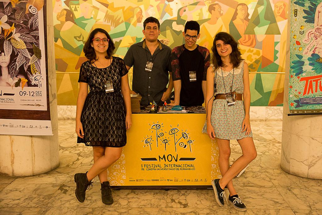 Thaís Vidal, Txai Ferraz, Vinicius Gouveia e Amanda Beça, produtores do MOV. Foto: Thiago Calazans/ Divulgação.