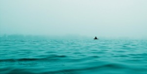 Alone on the sea