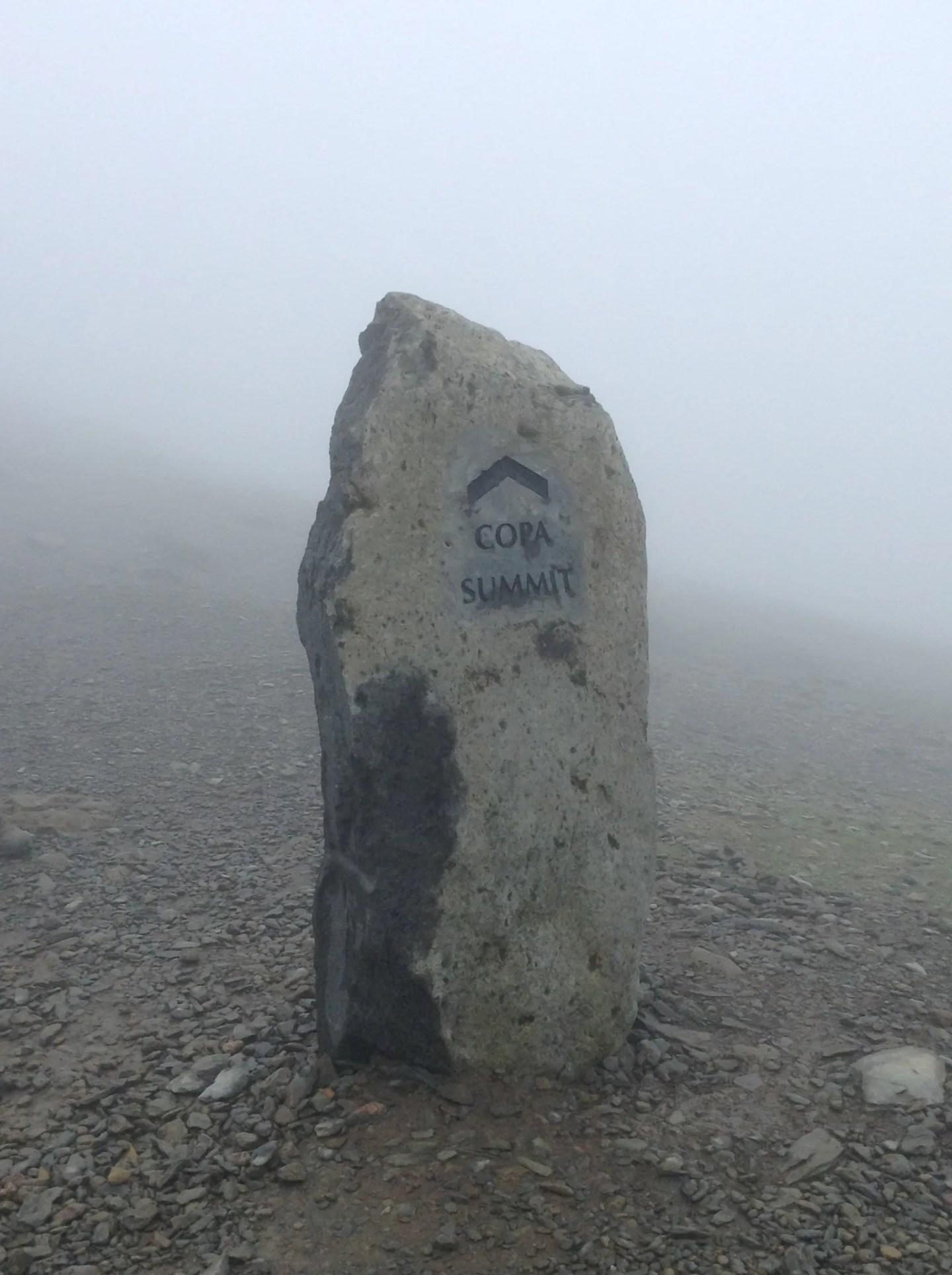 Snowdon - summit marker