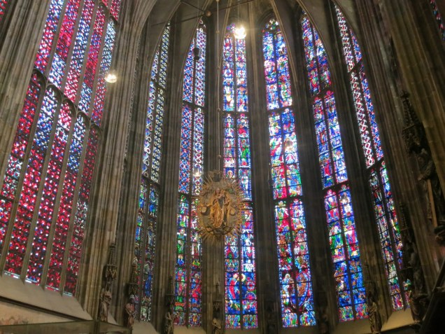 Aachen Cathedral stained glass windows