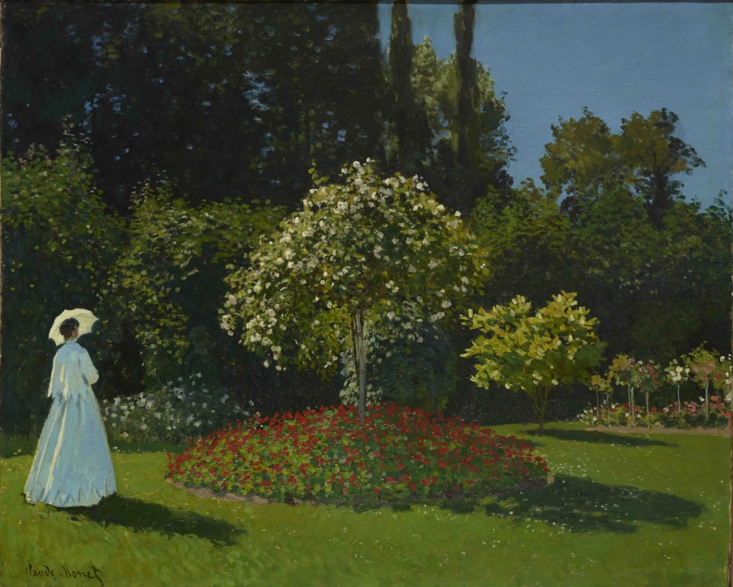 Lady in the Garden Modern Garden