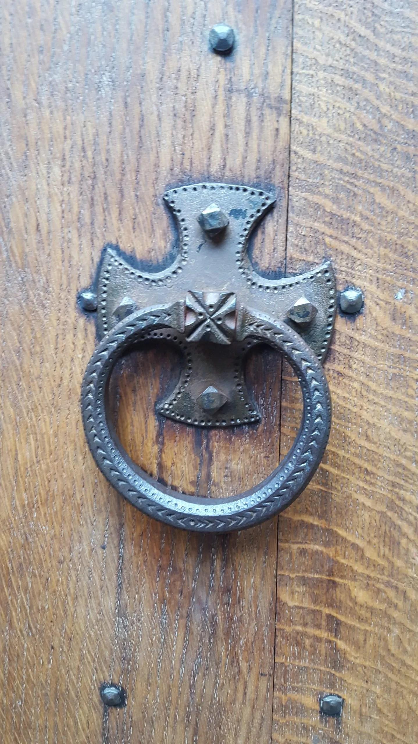 Tudor Metal door knocker at Sutton House, Hackney London