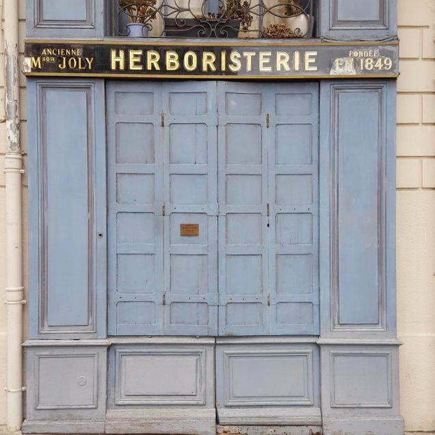Shuttered shop