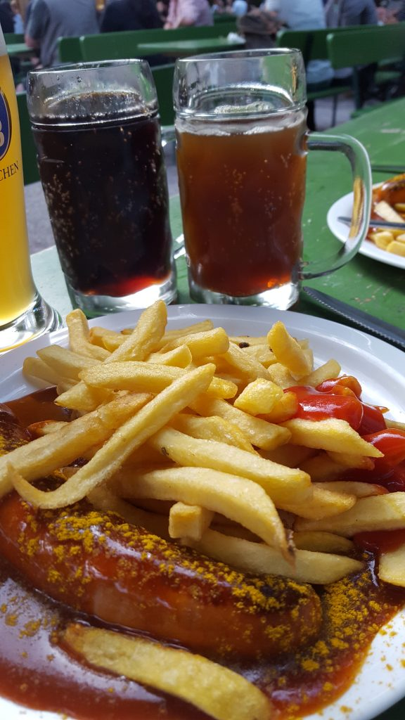 Curry wurst and Spezi
