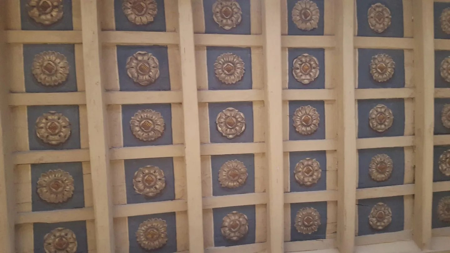 Decorative ceiling roses at Landmark Trust Rome