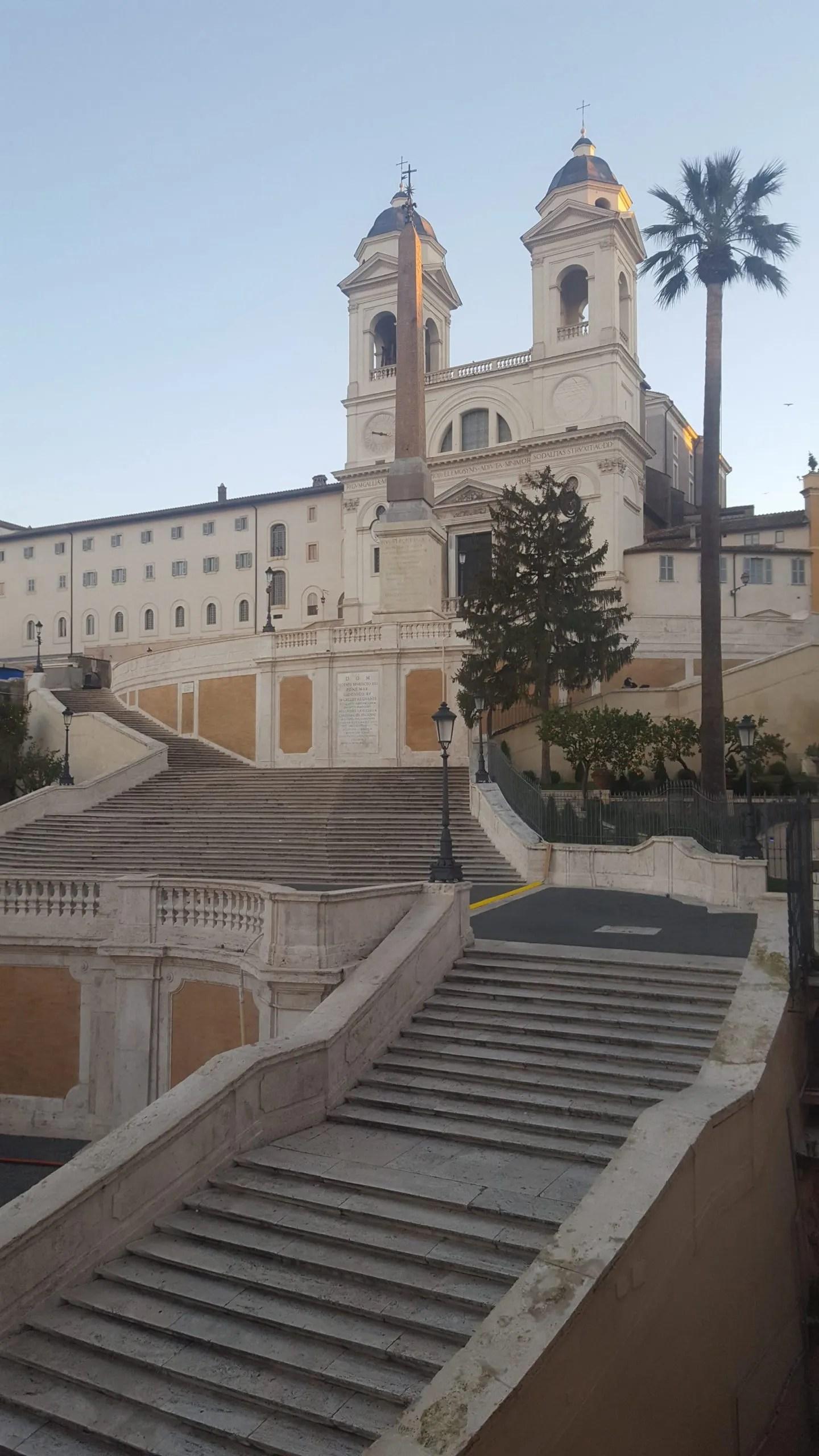 Empty Spanish Steps Trinita dei Monti