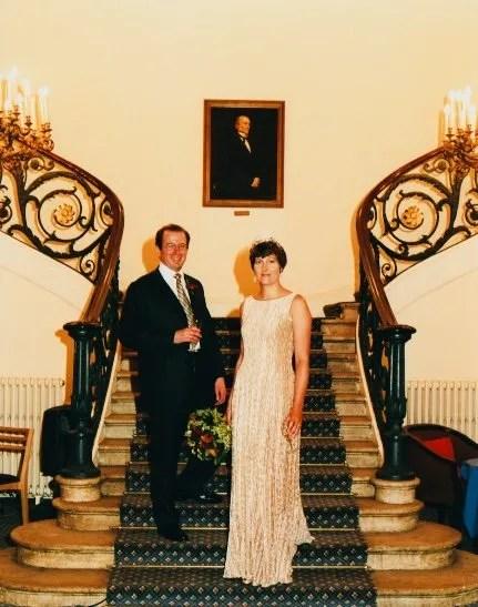 Bride and Groom Carlton House Terrace Wedding