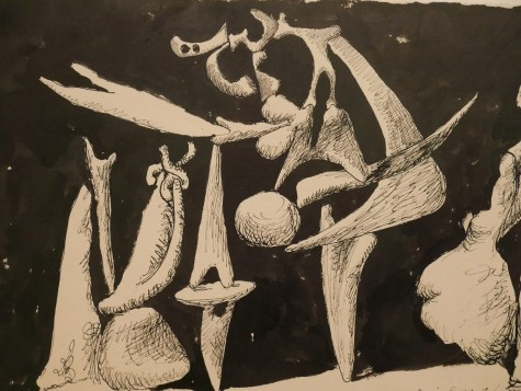 Picasso black white drawing