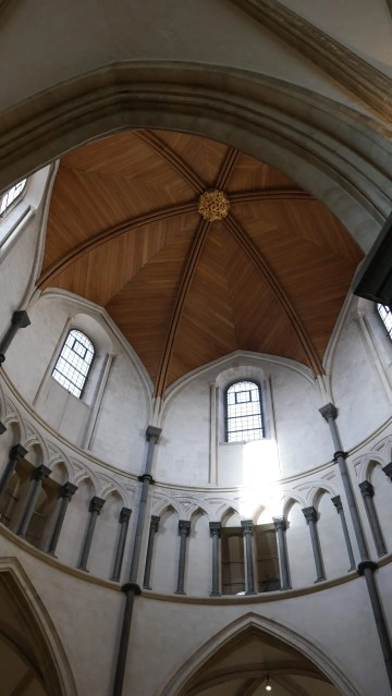 Temple Church London looking up