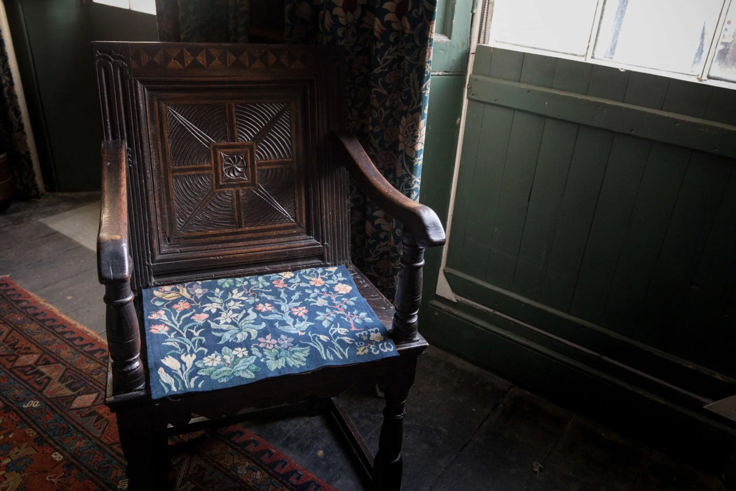 May Morris chair cover Emery Walker's House