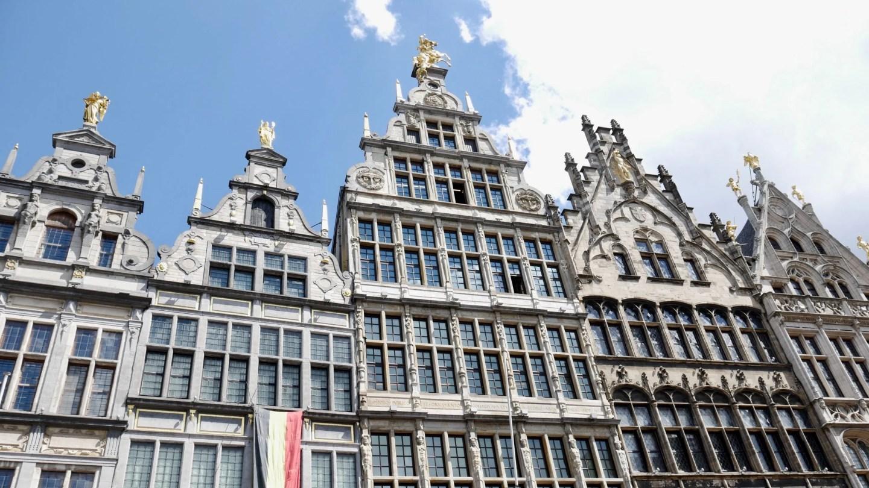 Buildings on Antwerp Grote Markt