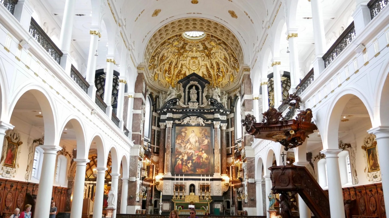 St Carolus Borromeus Church interior Antwerp
