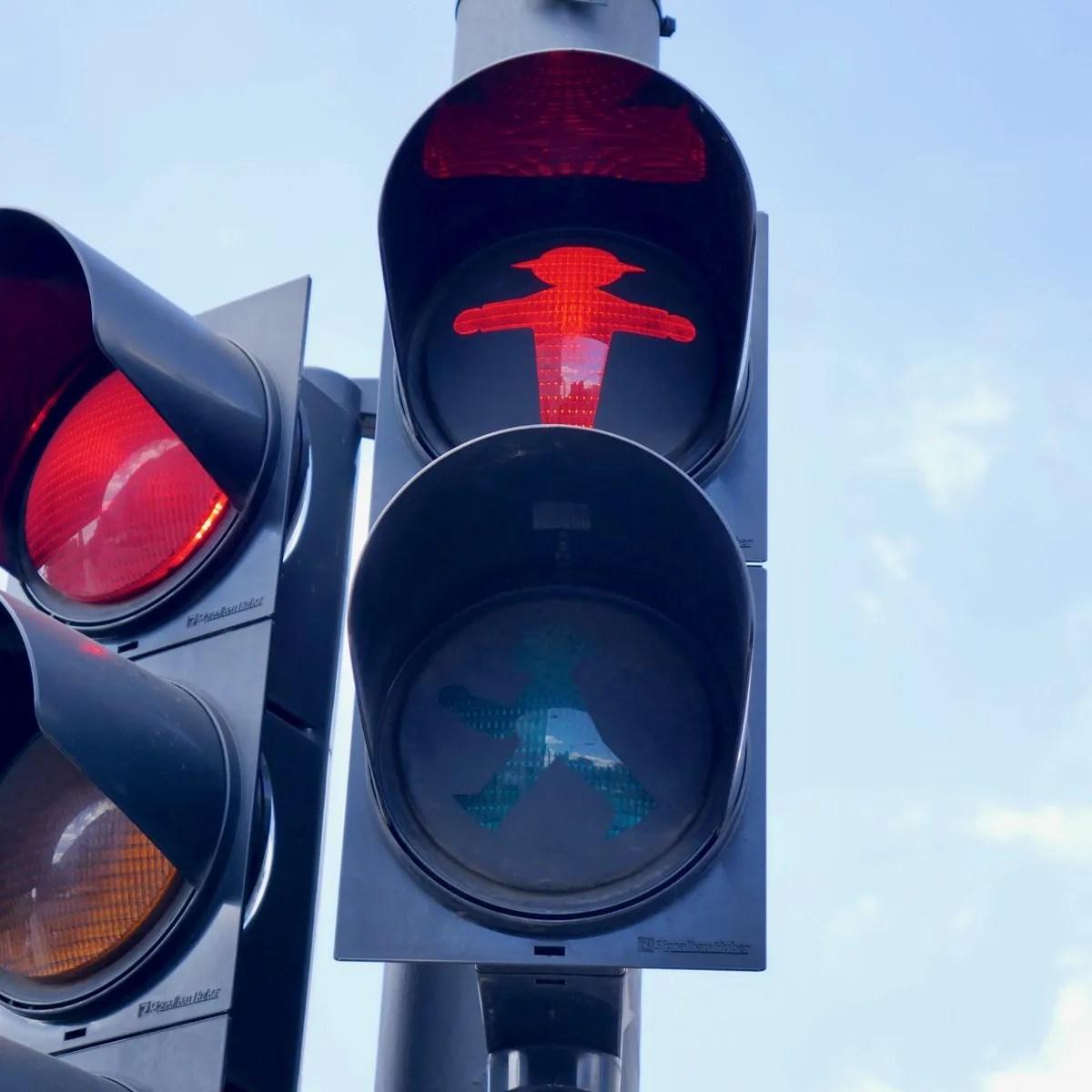 Red Crossing Ampelmannchen Berlin