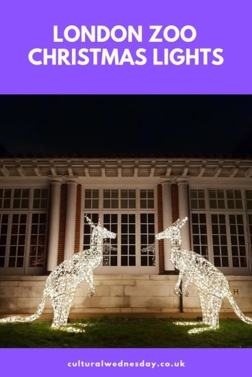 London Zoo christmas lights