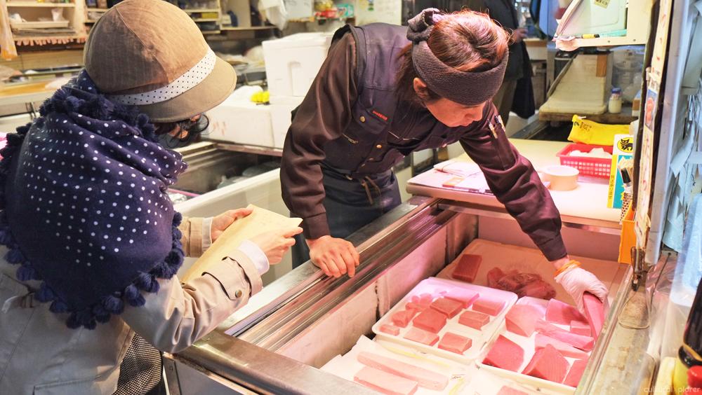 Shopping at Tsukiji