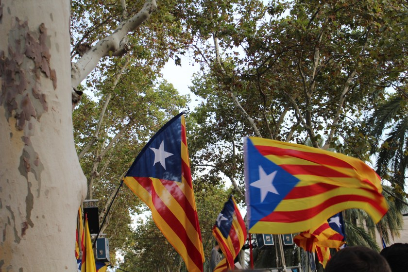 ato a favor do referendum em Barcelona