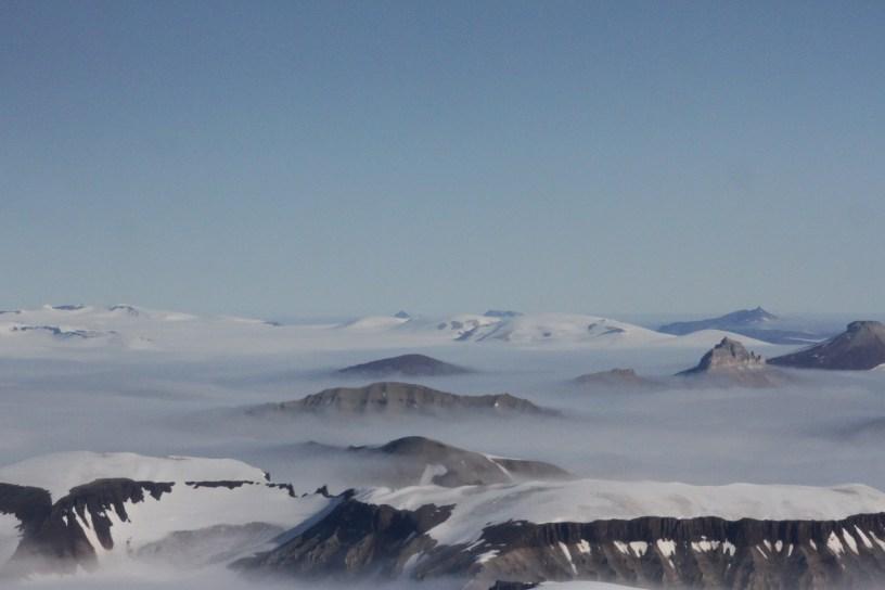 Svalbard sett ovenfra. Foto: Siri Wolland