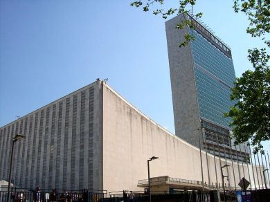 FNs hovedkvarter i New York. Foto: Wikimedia