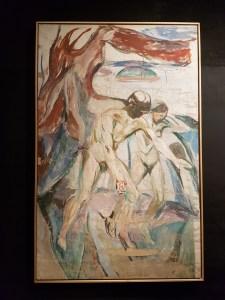 Edvard Munch. Stormen: venstre midtparti, 1926-27. Foto fra utstillingen: Siri Wolland