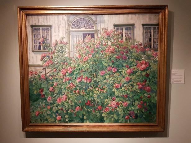 August Jacobsen (1868-1955), Rosenbusken, 1907. Foto fra utstillingen: Siri Wolland