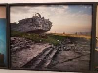 "Fotofestivalen i Arles. ""Kiev-Donbas: A Round Trip"". Fotografer; Guillaume Herbaut and Elèonore Lubna. Foto fra utstillingen: Siri Wolland."