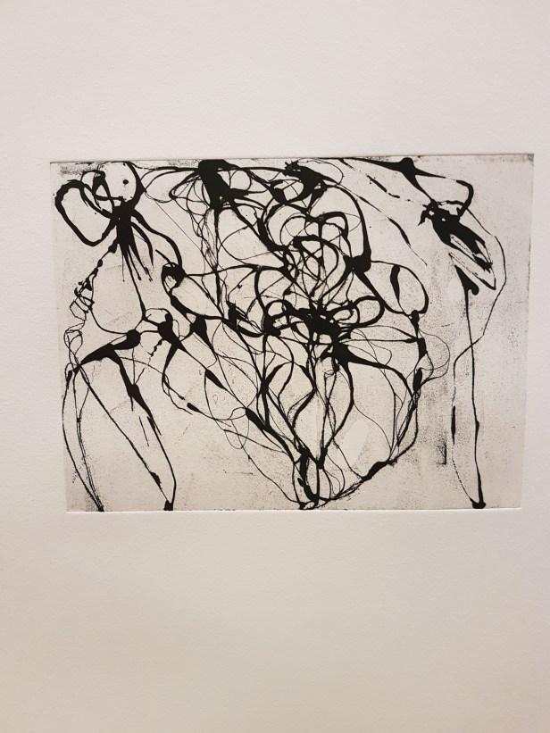 "Brice Marden, ""After Botticelli"", 1993. Foto fra utstillingen: Siri Wolland."