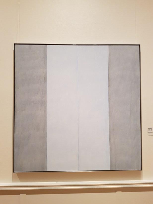 "Agnes Martin, ""Untitled, 1998. Untitled, 2002"". Foto fra utstillingen: Siri Wolland."