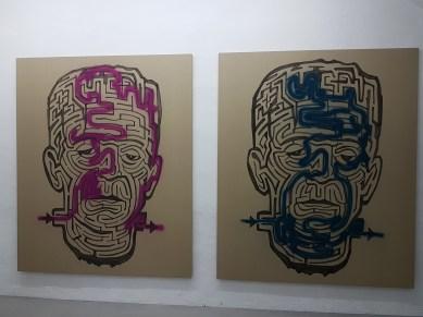 Michael Sailstorfer, Maze 36 & 37 (2012) (Germany). Foto fra utstillingen: Siri Wolland.