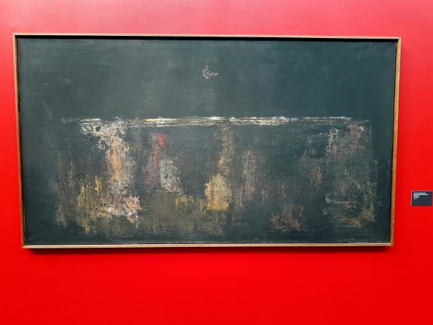 Olav Strømme (1909-1978), Flyver over orientalsk by II, 1962. Foto fra utstillingen: Siri Wolland.