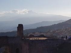 Utsikt til Etna fra Taormina. Foto: Siri Wolland