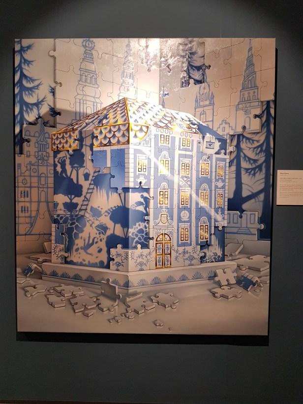Bjørn Båsen (1981), Krønike (Købmagergade), 2018. Foto fra utstillingen: Siri Wolland.