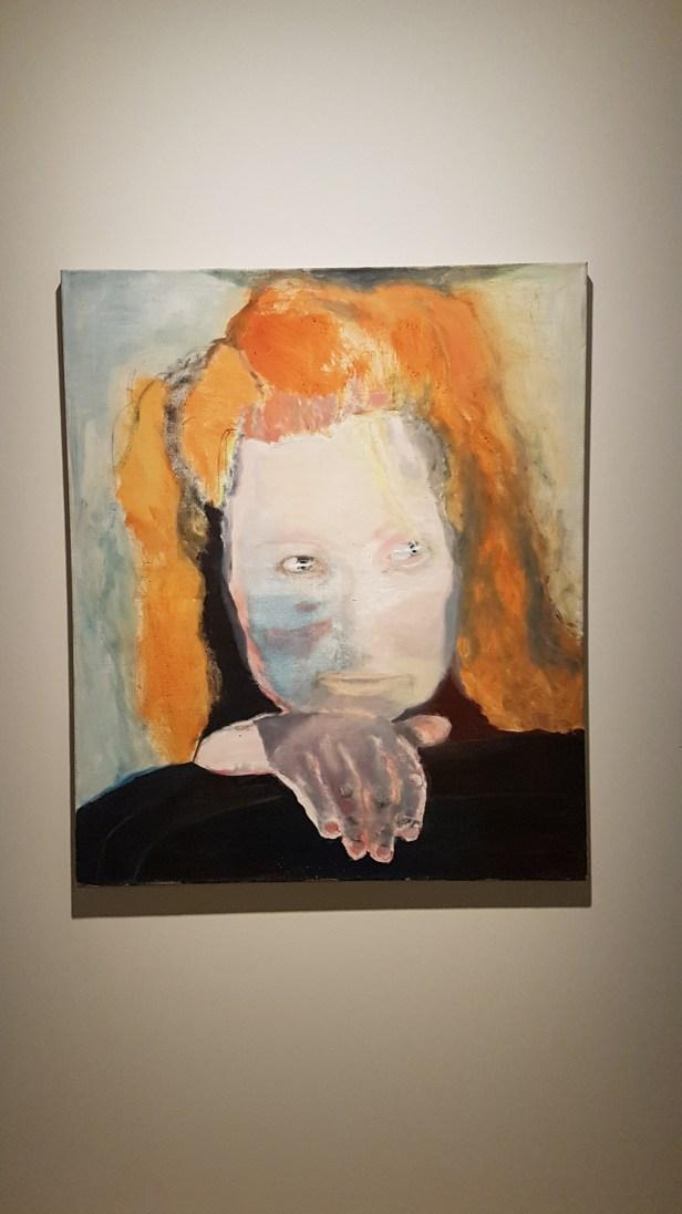 Marlene Dumas, Ondskap er banalt, 1984. Foto fra utstillingen: Siri Wolland.