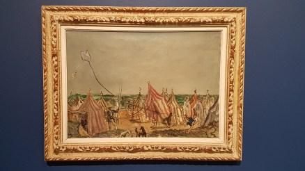 Per Krohg (1889-1965), Teltoppsetterne, 1926. Foto fra utstillingen: Siri Wolland.