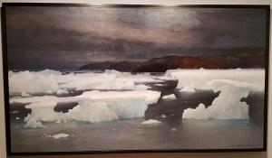 Aleksander Borisov, Der det er evig is (sommer), 1897. Foto fra utstillingen; Siri Wolland.
