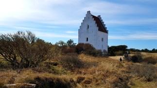Den tilsandede kirke på Skagen, i Danmark. Foto Siri Wolland.