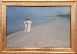 PS Krøyer, Sommeraften på Skagen Sønderstrand, 1893. Foto fra utstillingen; Siri Wolland.