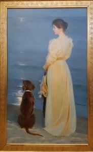 PS Krøyer, Sommeraften ved Skagen, 1892. Foto fra utstillingen; Siri Wolland.