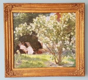 PS Krøyer, Roser. 1893. Foto fra utstillingen; Siri Wolland.