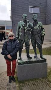 Bloggeren på besøk i Skagenmuseum, i Danmark. Foto Tom Blomberg.