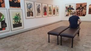 Fra Joan Miró-utstillingen i Foundation Maeght.