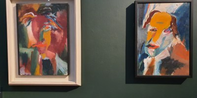 Hans Richter, Visjonäres Porträt. 1917. Foto fra utstillingen Siri Wolland